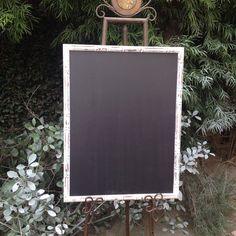 Beach Cottage Chalkboard White Wooden Framed by shabbyshores, $60.00 https://www.etsy.com/listing/175004784/beach-cottage-chalkboard-white-wooden?ref=shop_home_active_20