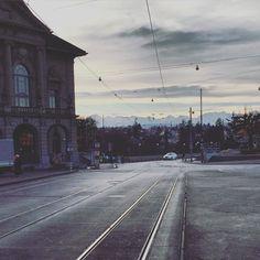 #rails #morning #alps #bern #switzerland