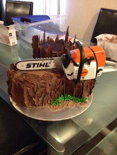 Prep of the 40th Birthday Log cake