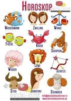 Horoskop deutsch Deutsch Wortschatz Grammatik German DAF Vocabulario Alemán