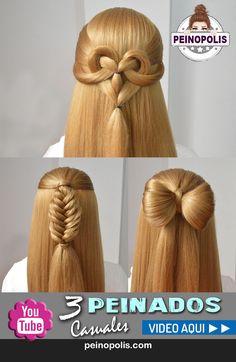 3 peinados casuales con cabello suelto