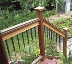 Make Deck Balusters From Used Golf Clubs: This creative deck design is on par with more expensive options. From MOTHER EARTH NEWS magazine.