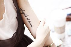 Such a beautiful tattoo. Infragilis et tenera - Unbreakable and tender.