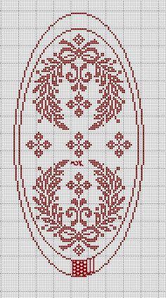 Xmas Cross Stitch, Cross Stitch Love, Cross Stitch Flowers, Cross Stitch Designs, Cross Stitch Patterns, Blackwork Patterns, Doily Patterns, Embroidery Patterns, Crochet Patterns