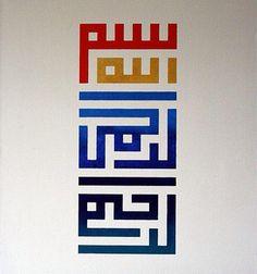 Blocky typography