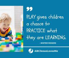 ABCJesusLovesMe: Intentional Learning Through Play Preschool Curriculum, Preschool Activities, 3 Year Olds, Jesus Loves Me, Learning Through Play, Pre School, Bible, Children, Biblia
