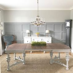 I'm relieved to have the Home Show dining room done, but now my poor dining room at home is empty (and useless). The good news is that a chair-less dining room is super easy to vacuum.