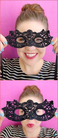 Crochet Masquerade Mask Free Pattern - Masquerade Beauty Crochet Eye Mask Free Patterns