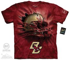 Boston College - Boston College Breakthru Helmet Adult Tee. Shop where every purchase helps shelter pets!