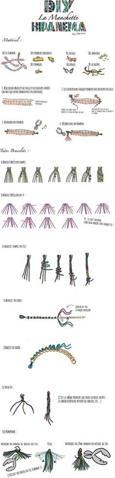 Simple tutorial in french for hipanema bracelets. Images are easy to follow!