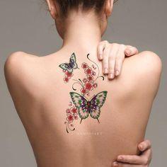 back tattoo women lower Back Tattoos Spine, Back Of Shoulder Tattoo, Girl Back Tattoos, Back Tattoo Women, Lower Back Tattoos, Butterfly Back Tattoo, Butterfly Tattoos For Women, Full Tattoo, Cover Up Tattoos
