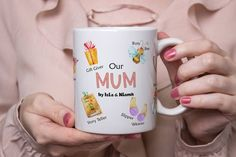 Mum Mummy Mom Personalised Mug/Mothers Day/Birthday/Gift | Etsy Personalized Water Bottles, Personalized Mugs, Christmas Gnome, Family Christmas, Gifts For Mum, Your Child, Fathers Day, Your Design, Mothers