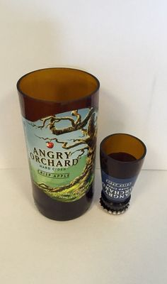 A personal favorite from my Etsy shop https://www.etsy.com/listing/233325875/upcycled-angry-orchard-crisp-apple-beer