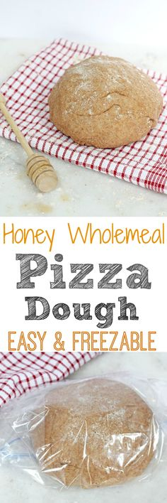 Easy & Freezable Honey Wholemeal Pizza Dough Recipe | My Fussy Eater Blog
