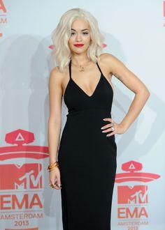 La star Rita Ora avec du maquillage