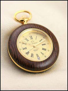 Wooden watch, Wood watch, Pocket watch, Pocket watches for men, Wood watch men, Brown watch wood, mens watch wood, Swiss quartz, Swiss watch