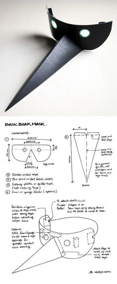 Black bird mask DIY