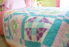 Simple Joys quilt by Kimberly Jolly featuring Happy Tones by Michael Miller Fabrics
