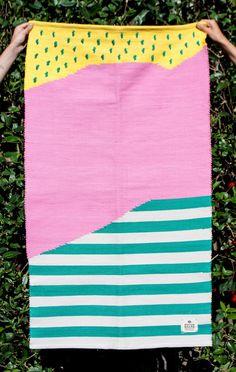 Atelier Bingo flat-weave rug by GUR | sightunseen.com