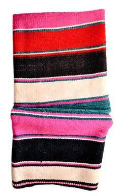 Bolivian Frazada Rug / Blanket, Moody Stripe