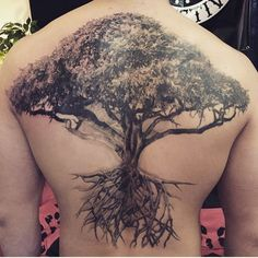tree tattoos on back-16. this tree shape