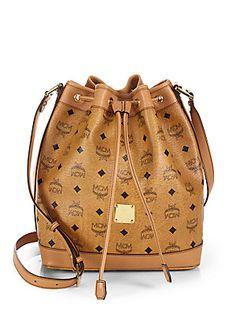 MCM Heritage Drawstring Shoulder Bag