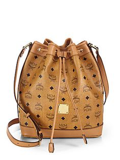 MCM Heritage Drawstring Shoulder Bag