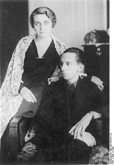 Joseph Goebbels and Magda Goebbels on their wedding day; 19 December 1931.