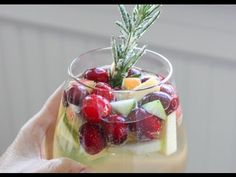 "Cranberry & Rosemary White ""Christmas"" Sangria Recipe"