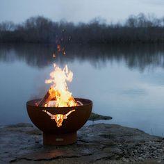 """FirePit Art Long Horn 36"""" Fire Pit (LH)"""
