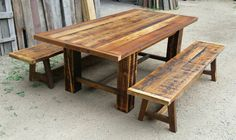 A rustic yet classic design trestle dining table. This table is made entirely of authentic reclaimed barnwood I have salvaged by hand from ranches and homesteads here in northwest Monana. Most of the wood used dates to the late 1800s. The trestle design and beefy lumber makes this table very solid and sturdy for a lifetime of use. This table measures 72 x 36 x 30 tall. I can make this table in any size you need. Table has been finished with a low voc satin polyurethane for a durable, smooth…