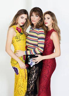Sistine Stallone, Jennifer Flavin, Sophia Stallone wearing Dolce&Gabbana on Grazia Italy, January 2017. #DGCelebs #DGWomen