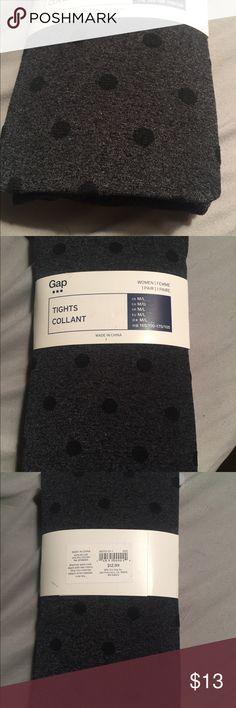 GAP grey tights with black polka dots. Size M/L Brand new with tags. GAP grey tights with black polka dots. Size M/L GAP Accessories Hosiery & Socks