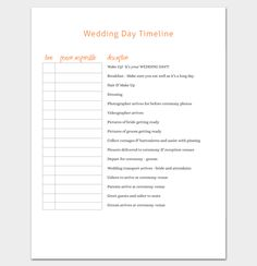 Wedding Timeline Checklist  Timeline Templates  Free Printable