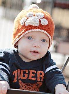 Tiger Stamped Hat Pattern - free!  Pinned for the day Justin and Stephanie have children.