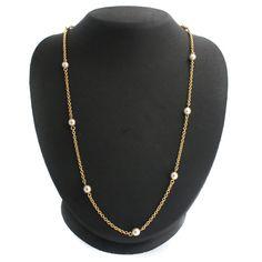 "qvc Nolan Miller Goldtone Cream Freshwater Pearls 48"" Necklace 464M #NolanMiller #Fashion"