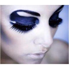 Dramatic black eye makeup