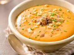 Découvrez la recette Soupe potiron marron simplissime sur cuisineactuelle.fr.