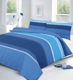 Carter Printed Blue Duvet Quilt Cover Set — Linens Range