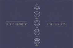 5 Elements - Sacred Geometry icons by Marish on @creativemarket