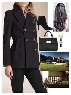"""Having lunch at the Amisfield Winery Bistro before continuing on their tour"" by fashion-royalty ❤ liked on Polyvore featuring Burberry, Jimmy Choo, Mulberry and Cartier"
