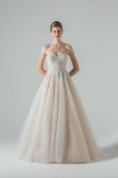 Sweetheart Princess/Ball Gown Wedding Dress  with Natural Waist in Tulle. Bridal Gown Style Number:33265687