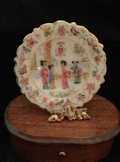 Ina Williams - hand painted Asian themed porcelain plate