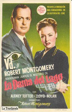 La Dama del Lago - Programa de Cine - Robert Montgomery - Audrey Totter - Lloyd Nolan