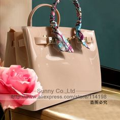 0230eebf55c2 High quality luxury fashion summer beach bag jelly candy color bag women  tote casual lock bag purse bolsas office handbags    Click the VISIT button  for ...