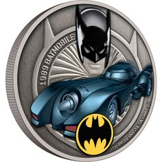 Second release in the officially licensed Batmobile 1oz Silver Coin Collection. The coin arrives in a BATMAN-themed box. Inside, an acrylic coin block keeps the coin protected and is ideal for display. The coin comes with its own Certificate of Authenticity which includes a unique serial number, guarantees the silver purity of the coin and confirms the limited mintage of 2,000 coins! Dc Comics Series, Legal Tender, Batman Logo, Proof Coins, Disney Stars, Effigy, Batmobile, Ivory Coast, Classic Tv