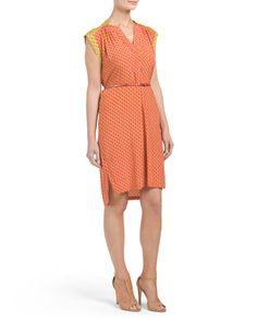 Silk+Blend+Dress+With+Belt