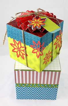 Nordic/Be Merry Gift Box Altered Project Idea from Creative Memories - Limited Edition product - through December 2012!