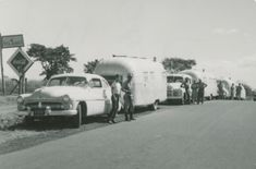 We're thowin' it back this #ThrowbackThursday with a little history lesson on Airstream✨  Check out this blog post to learn all about the 1951-1952 expedition that made the Airstream Caravan possible! Caravan Parts, Airstream Travel Trailers, Army Surplus, Going On A Trip, Short Trip, New Adventures, Mexico City, Central America, History