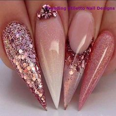Semi-permanent varnish, false nails, patches: which manicure to choose? - My Nails Stiletto Nail Art, Cute Acrylic Nails, Cute Nails, Pastel Nails, Coffin Nails, French Nails, Hair And Nails, My Nails, Ongles Bling Bling